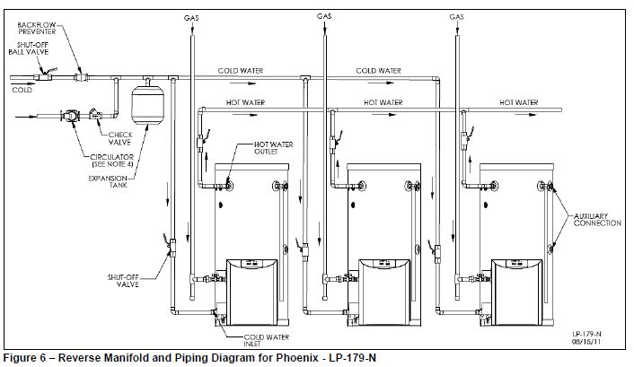 hot water plumbing diagrams