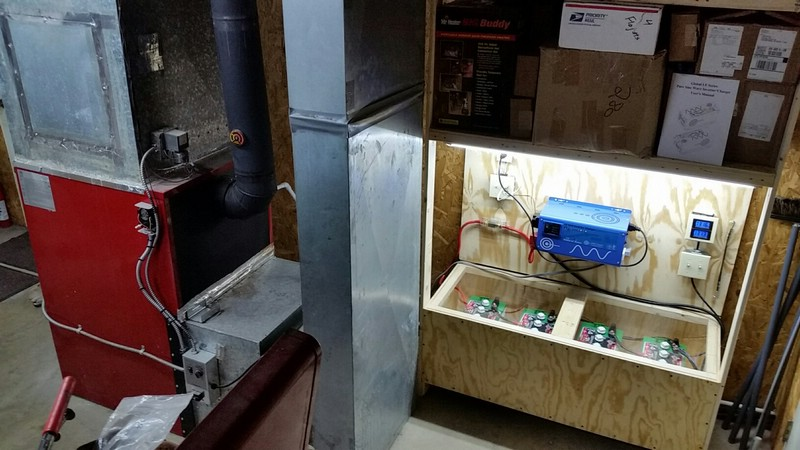 Auto switching inverter charger for wood furnace pellet for Whole house wood furnace